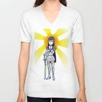 kill la kill V-neck T-shirts featuring Kill la kill - SATSUKI  by Fenlaf