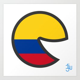 Colombia Smile Art Print