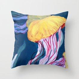 Sea Nettle Throw Pillow