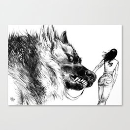 You talking´to her Canvas Print
