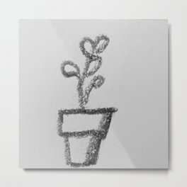 Little Sketch Plants 4 - coloring book (Add your own color!) Metal Print