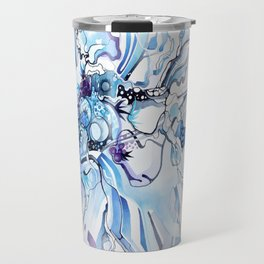 Sub-Atomic Stress Release Therapy - Blue Psychedelic Watercolor Travel Mug
