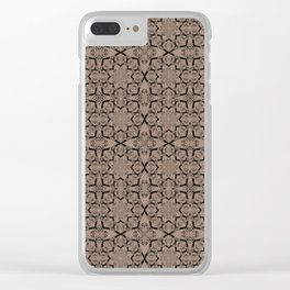 Warm Taupe Geometric Clear iPhone Case