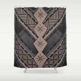 UrbanNesian V Tatau Design Shower Curtain