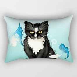 Cat Fishing Rectangular Pillow