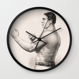 Tom Sayers - English Bare-Knuckle Champion Wall Clock