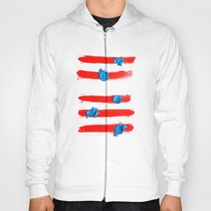 Red stripes Hoody