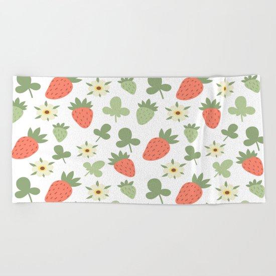 Stawberry Pattern Beach Towel