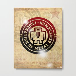 FEDERATION OF METAL GENTLEMEN LOGO Metal Print