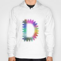 letter Hoodies featuring Letter D by David Zydd