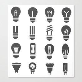 Set lamps Canvas Print