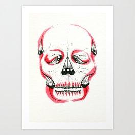 Desert Pea Skull - Soul Discovery Art Print