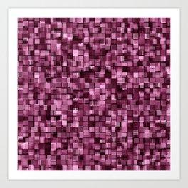 Burgundy glitter Art Print