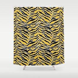 Tiger Print - Mustard Yellow Shower Curtain
