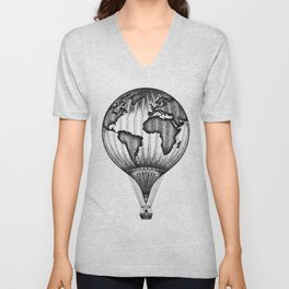 EXPLORE. THE WORLD IS YOURS. (No text) Unisex V-Neck