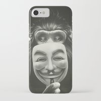 lion iPhone & iPod Cases featuring Anonymous by Dr. Lukas Brezak