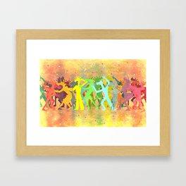 Conga Line Unicorns Framed Art Print