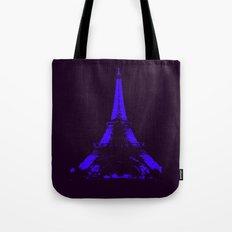 paris Eiffel Tower Indigo Tote Bag