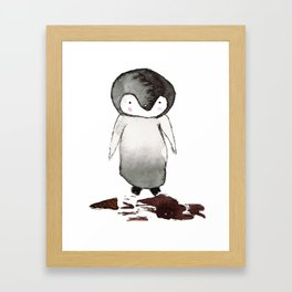 Sad Kip Framed Art Print