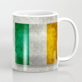 Republic of Ireland Flag, Vintage grungy Coffee Mug
