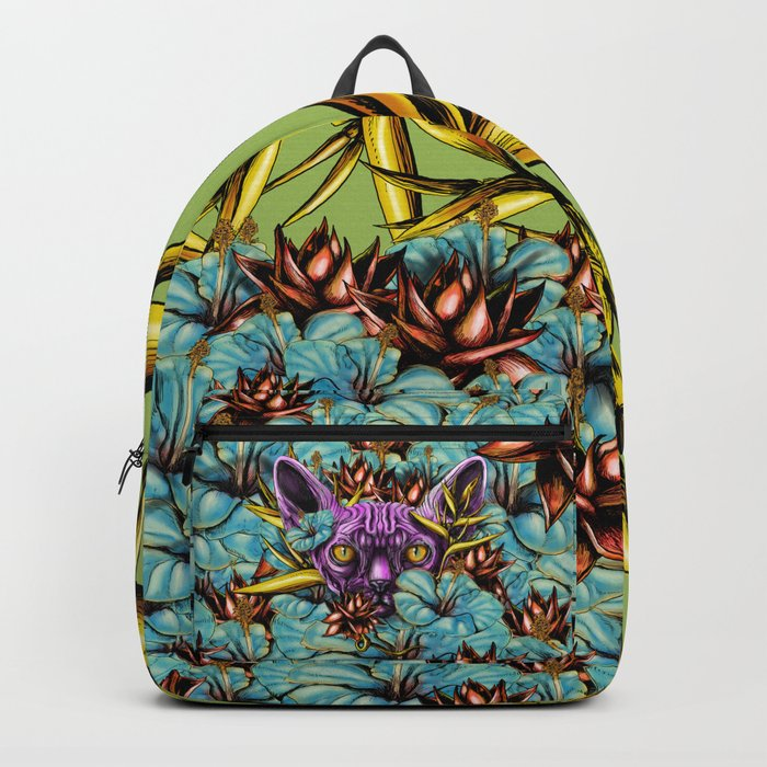 The Sphynx and the Flowers Backpack