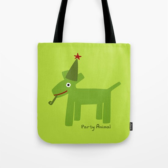 Party Animal-Green Tote Bag