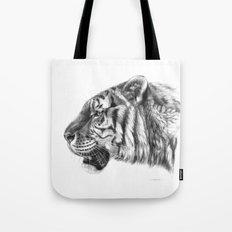 Tiger profile G077 Tote Bag