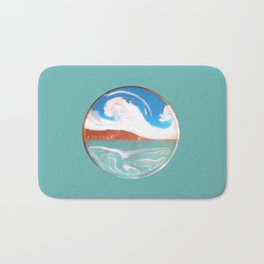 Painting of the Ocean on a Penny Print Bath Mat