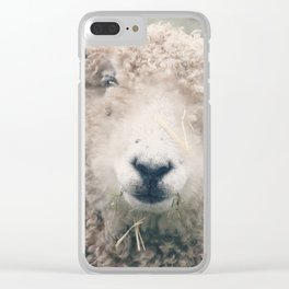 Smiley Sheep Clear iPhone Case
