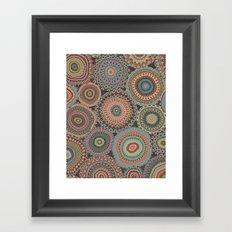 Boho Patchwork-Vintage colors Framed Art Print