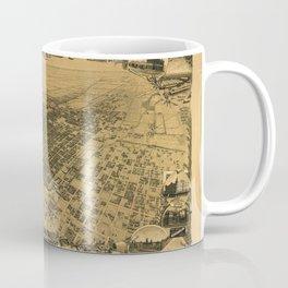 Map of Stockton 1895 Coffee Mug