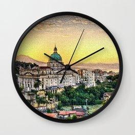 Naples, Italy Landscape Wall Clock