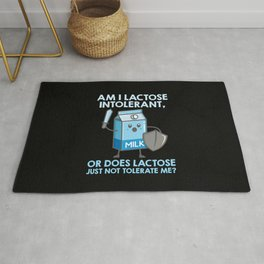 Dairy Free Dairy Allergy Awareness Funny Rug