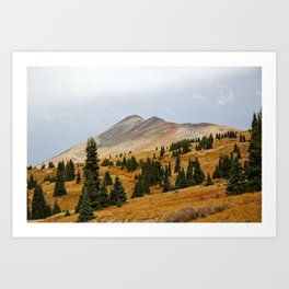 Autumn in the mountains Art Print