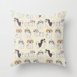 Cute Shih Tzu Dog Pattern Throw Pillow