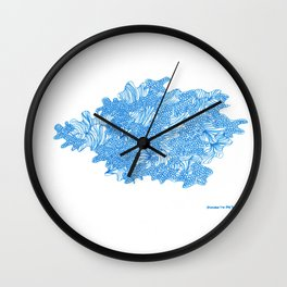 March's Blue 7 | Artline Drawing Pens Sketch Wall Clock