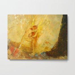 "Odilon Redon ""Jacob Wrestling with the Angel"" Metal Print"