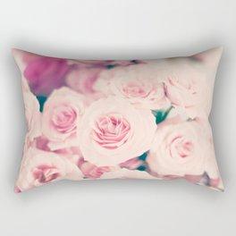 Pastel pink roses Rectangular Pillow