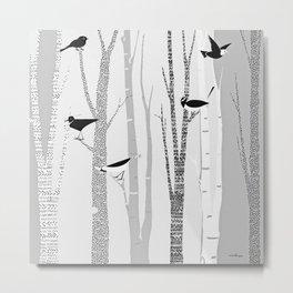 Winter Birds / 02 Metal Print