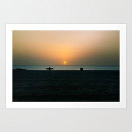 """""""SURF WALK"""" kitesurf . kite . surf Art Print"""