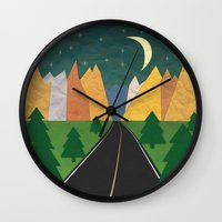 Somewhere going Nowhere Wall Clock