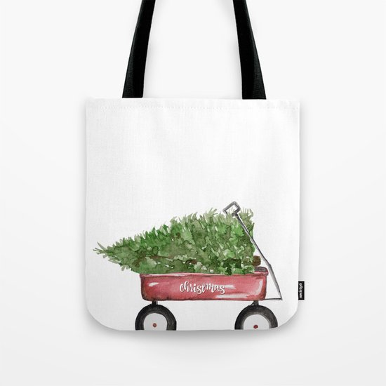 Christmas Wagon Tote Bag