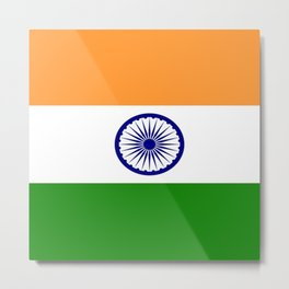 Flag of India-indian,mumbai,delhi,hindi,indus,buddhism,hinduism,buddha,gandhi Metal Print