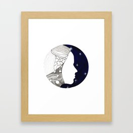 Girl in the Universe Framed Art Print