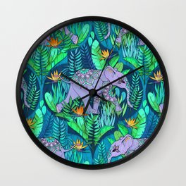Little Elephant on a Jungle Adventure Wall Clock