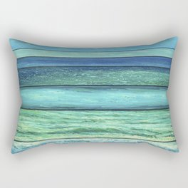 The shades of the sea Rectangular Pillow