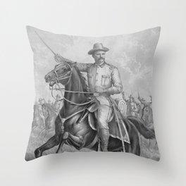 Colonel Theodore Roosevelt On Horseback Throw Pillow