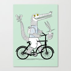The Crococycle Canvas Print