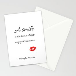 Marylin monroe Quote typography  Stationery Cards
