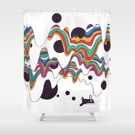 Psychedelic Planet Shower Curtain